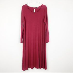 Eileen Fisher | Red Midi Dress | Large